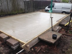 Garage Foundations laid by Garage Roof Scotland