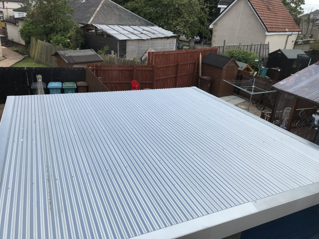 flat new garage roof