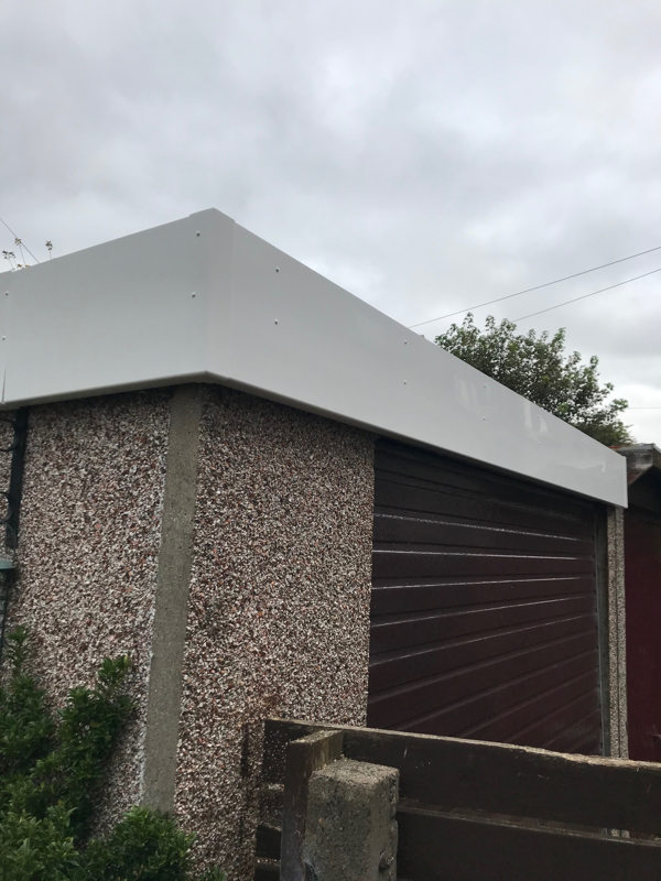 UPVC cladding attached to new garage roof