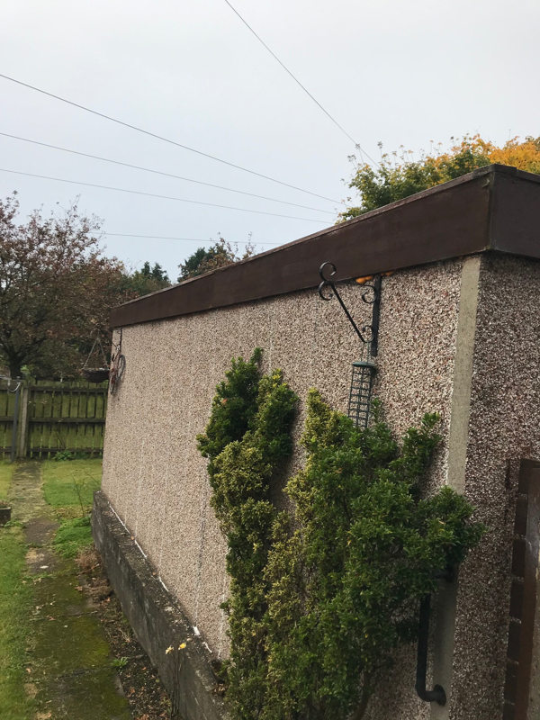 old garage roof fascias